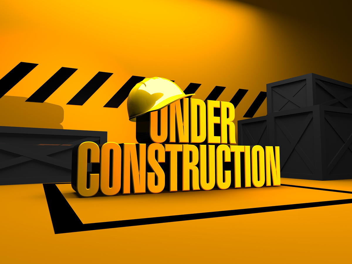 New web site under construction for Construction